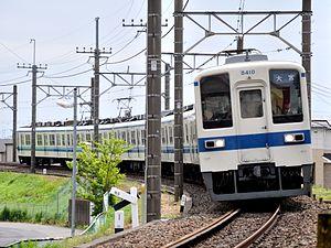 Tobu Urban Park Line - Image: TOBURAILWAY SERIES8000 8110F(Tc 8410) NODALINE