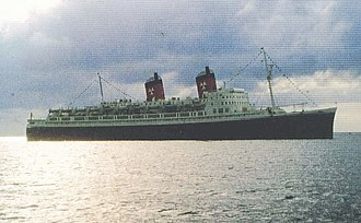 Hamburg Atlantic Line - The first TS ''Hanseatic'' photographed around 1963