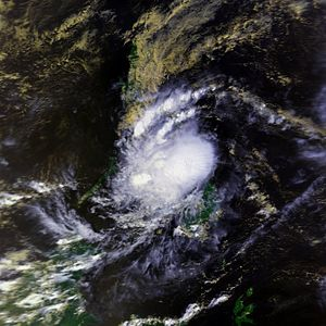 1991 in the Philippines - Thelma while nearly stationary on November 5
