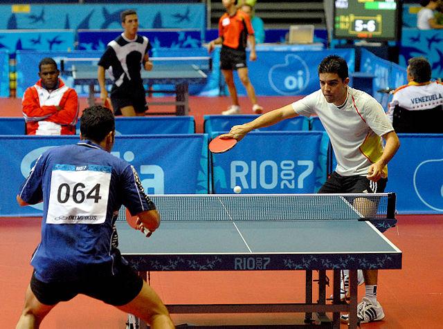 Partita di ping pong svoltasi durante i giochi panamericani di Rio nel 2007