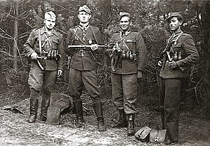 Cursed soldiers - 'Cursed soldiers' of the anti-communist underground. Left to right (June 1947):