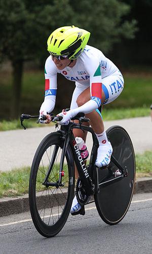 Tatiana Guderzo - Tatiana Guderzo competing in the 2012 Olympics time trial in London.