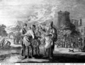 Teachings of Jesus 16 of 40. the eleventh hour labourers. Jan Luyken etching. Bowyer Bible.png