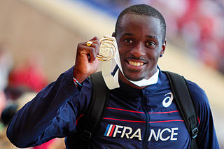 Teddy Tamgho French triple jumper