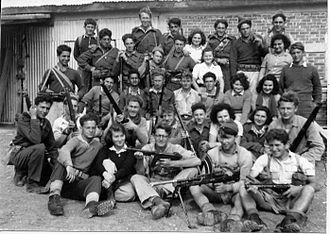 "Nir David - Members of Yiftach Brigade,  ""C"" Company, at Tel Amal, 1948"