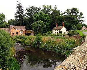 Bromfield, Shropshire - Image: Teme River near Bromfield geograph.org.uk 31469