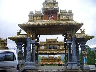 Eastern religions - A Hindu temple in Sri Lanka.