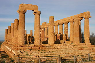 Empedocles - The temple of Hera at Agrigentum, built when Empedocles was a young man, c. 470 BC.