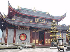 Temple of the King of Heaven in Little Putuo Buddhist Monastery in Yinzhou, Ningbo, Zhejiang, China
