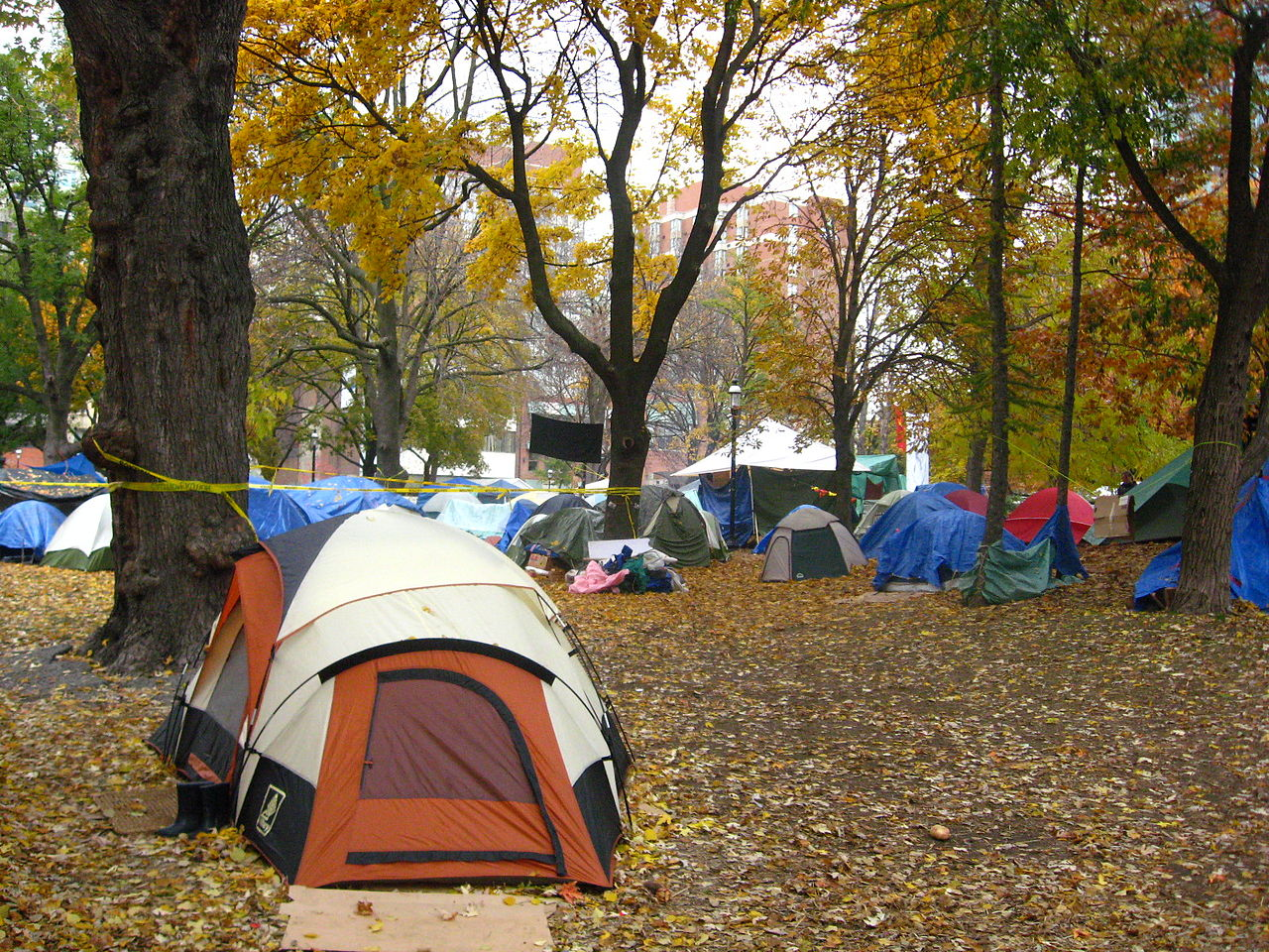 Tents in St. James Park