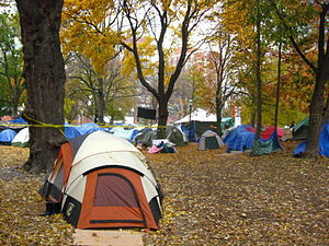 Occupy Toronto - Tents in St James Park