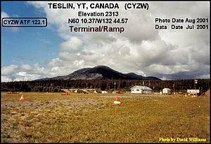 Teslin, Yukon - Image: Terminal Teslin airport, Yukon