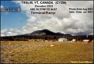 Teslin Airport - Image: Terminal Teslin airport, Yukon