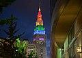 Terminal Tower in rainbow colors.jpg