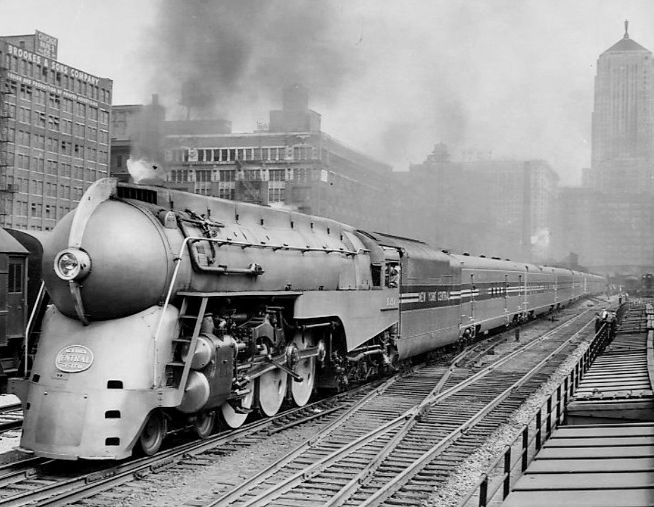 Test run of streamlined 20th Century Limited 1938