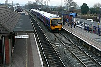 Thatcham railway station from the footbridge in 2009.jpg
