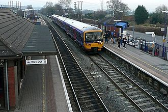 Thatcham railway station - Image: Thatcham railway station from the footbridge in 2009