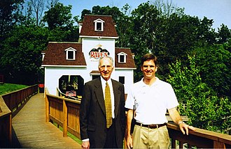 Holiday World & Splashin' Safari - An early photo of The Raven. Bill Koch Sr. is on the left; Will Koch is on the right