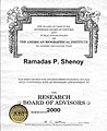 The American Biographical Institute - Appointment to The Research Board of Advisors- R P SHENOY.jpg