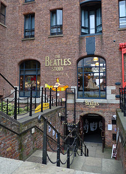 The Beatles Story Exhibition, entrance's down stairs