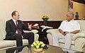 The British High Commissioner to India, Mr. James David Bevan calling on the Union Minister for Civil Aviation, Shri Ashok Gajapathi Raju Pusapati, in New Delhi on June 24, 2014.jpg