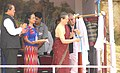 The Chairperson, National Advisory Council, Smt. Sonia Gandhi unveiling the plaque to lay the foundation stone for Sainik School, Chhingchhip, at Aizawl in Mizoram. The Chief Minister, Mizoram.jpg