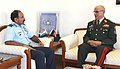 The Chief of General Staff, Afghan National Army, General Sher Mohammad Karimi calling on the Chairman Chiefs of Staff Committee (COSC) and Chief of the Air Staff, Air Chief Marshal Arup Raha, in New Delhi on August 21, 2014.jpg