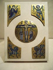 Enamels with the Crucifixion