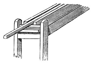 PART OF HAND-RAIL MACHINE.