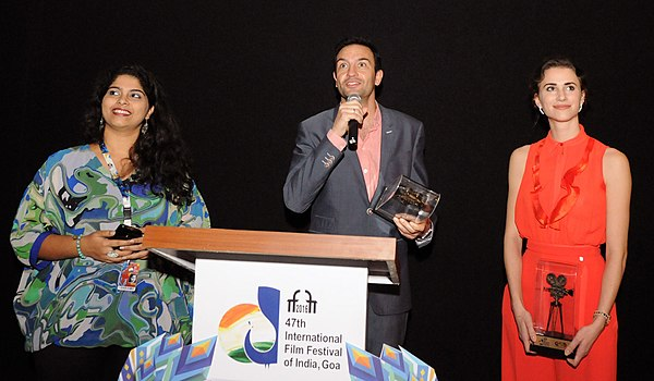The Director, Netherlands, Rudolf Van Berg at the presentation of the ICFT-UNESCO Gandhi Medal nominated film 'A Real Vermeer', during the 47th International Film Festival of India (IFFI-2016), in Panaji, Goa.jpg