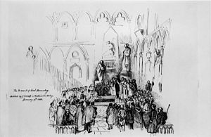 Thomas Babington Macaulay - The Funeral of Thomas Babington Macaulay, by Sir George Scharf.