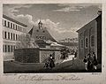 The Hot Spring, Wiesbaden, Germany. Aquatint by F. Martens a Wellcome V0014597.jpg