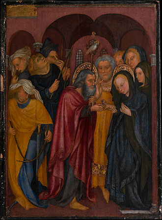 The Marriage of the Virgin (Michelino da Besozzo) - Image: The Marriage of The Virgin .1430