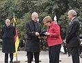 The Mayor of Buenos Aires Horacio Rodríguez Larreta gives the key to the city to Angela Merkel, June 2017 (2).jpg