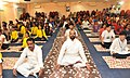 The Minister of State for Home Affairs, Shri Hansraj Gangaram Ahir participating in the 4th International Day of Yoga celebrations, in Medchal District, Telangana on June 21, 2018.JPG