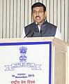 The Minister of State for Information & Broadcasting, Col. Rajyavardhan Singh Rathore addressing at the National Press Day celebrations, in New Delhi on November 16, 2015.jpg
