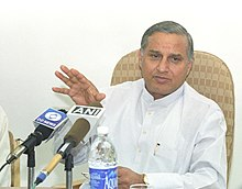The Minister of State for Labour and Employment, Shri Chandra Sekhar Sahu briefing the Media, in New Delhi on March 8, 2006.jpg