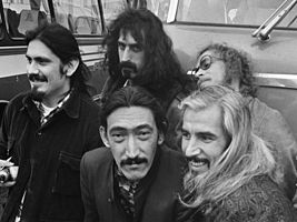 The Mothers of Invention touring Europe in 1968