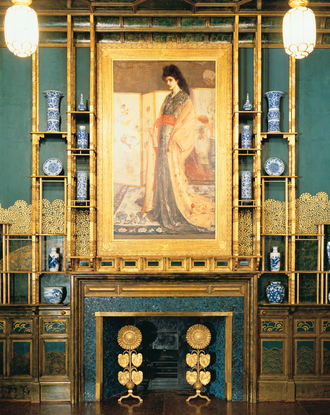 Anglo-Japanese style - The Peacock Room, originally designed by Thomas Jeckyll (1873-76), then repainted and with added murals by James McNeill Whistler (1876–77), Freer Gallery, Washington, D.C.