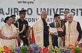 The President, Shri Ram Nath Kovind at the 66th Convocation of Maharaja Sayajirao University of Baroda, in Gujarat on January 22, 2018. The Governor of Gujarat, Shri O.P. Kohli is also seen.jpg