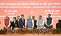 The Prime Minister, Shri Narendra Modi and the Prime Minister of Japan, Mr. Shinzo Abe laying the foundation stone for Mumbai-Ahmedabad High speed Rail Project, at a function, at Ahmedabad, Gujarat (1).jpg