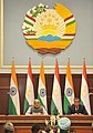 The Prime Minister, Shri Narendra Modi delivering his statement to media at the Joint Press Briefing with the President of Tajikistan, Mr. Emomali Rahmon, at Qasr-e-Millat, in Dushanbe, Tajikistan on July 13, 2015 (1).jpg