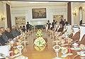 The Prime Minister Shri Atal Bihari Vajpayee holding deligation level talks with the Prime Minister of the Kingdom of Bahrain Mr. Shaikh Khalifa bin Salman Al Khalifa in New Delhi on January 13, 2004.jpg