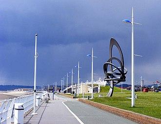 Aberavon Beach - Aberavon Beach promenade and Kitetail sculpture
