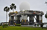 The Sea-based X-Band Radar (SBX) transits the waters of Joint Base Pearl Harbor-Hickam, Hawaii, March 22, 2013 130322-N-RI884-070.jpg