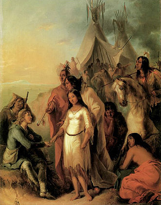 Métis in Canada - The Trapper's Bride by Alfred Jacob Miller, 1837