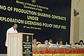 The Union Minister for Law & Justice, Dr. M. Veerappa Moily addressing at the signing ceremony of the production sharing contracts under New Exploration Licensing Policy (NELP-VIII), in New Delhi on June 30, 2010.jpg