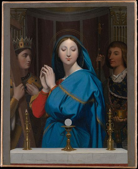 Virgin Mary by the Host by Jean Auguste Dominique Ingres The Virgin Adoring the Host MET DP136074.jpg