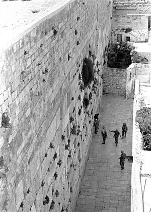 Pictured here is the Western Wall--one of the ...