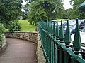 The fence and walkway to Barter books Alnwick - geograph.org.uk - 909199.jpg